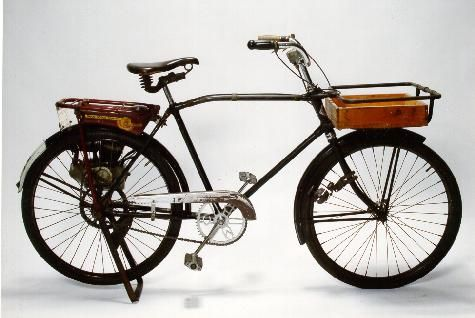 "CCM, short for Canada Cycle & Motor Co. LTD, Light Delivery bicycle, (ca 1932.) In the late 1940s, a ""Pixie"" bicycle motor was installed on the Light. The original bicycle is located at the Canada Science and Technology Museum and listed under item number (880307)."