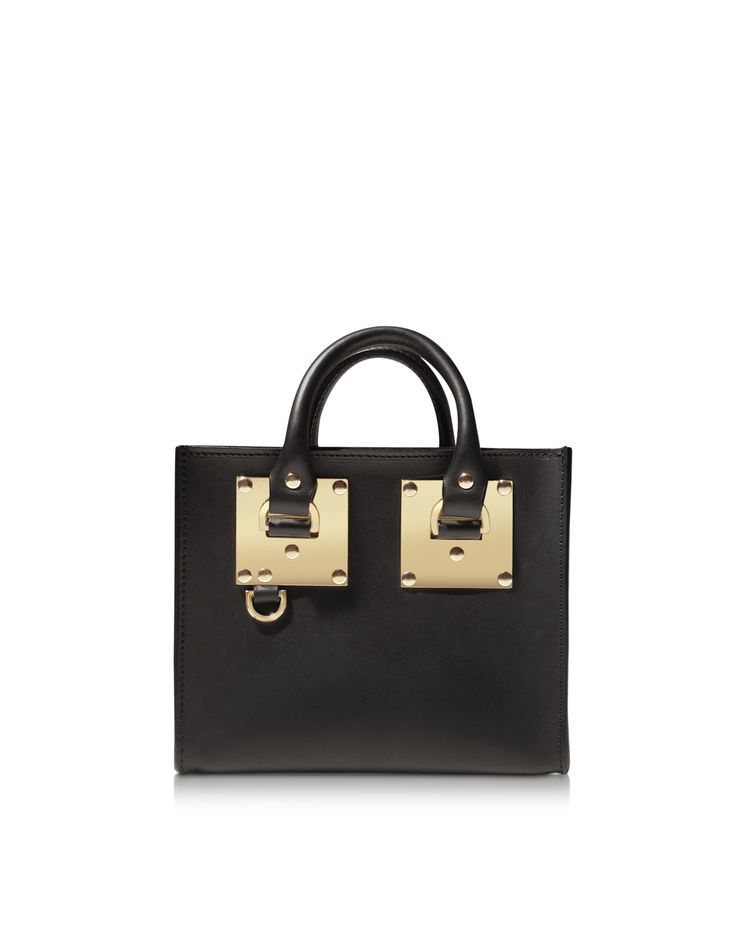 Sophie Hulme Black Leather Box Tote Bag at FORZIERI