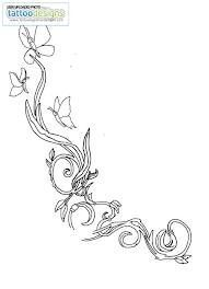 Black and White Floral Pattern Tattoo Sketch #tattoos #flowertattoos