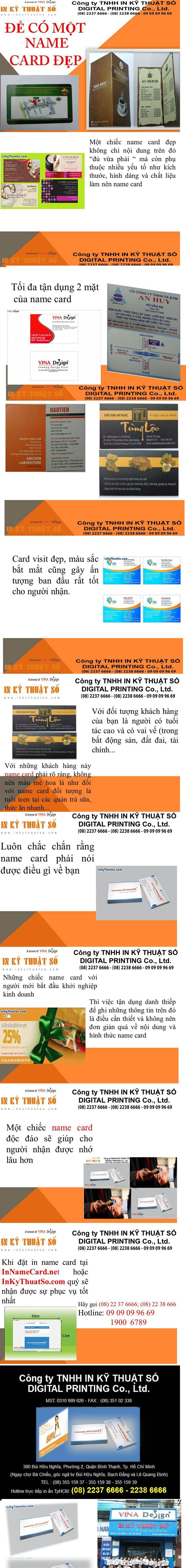 Hướng dẫn thiết kế name card đẹp tại Cty TNHH In kỹ thuật Số - Digital Printing