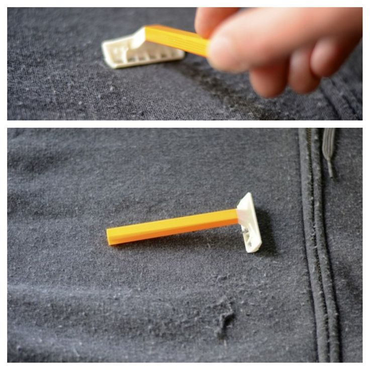 """Use a razor to get rid of lint/fabric pills.  I am pinning this because I just """"shaved"""" my fabric couch...it looks really good again!! :-)"""