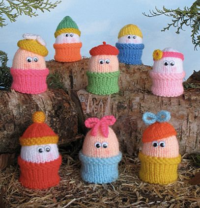 23 best knitting patterns egg cup covers images on pinterest free pattern novelty eggs in egg cups to knit put a chocolate easter egg inside for an easter basket treat negle Image collections