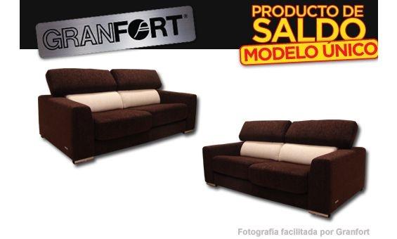 Conjunto de sof s tres m s dos plazas granfort modelo - Sofa para tres ...