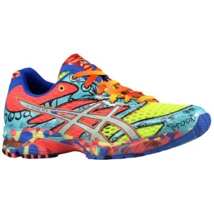 Neon Running Shoes - Rainbow Bright seems to have thrown up on your feet.  I'll get you a towel.