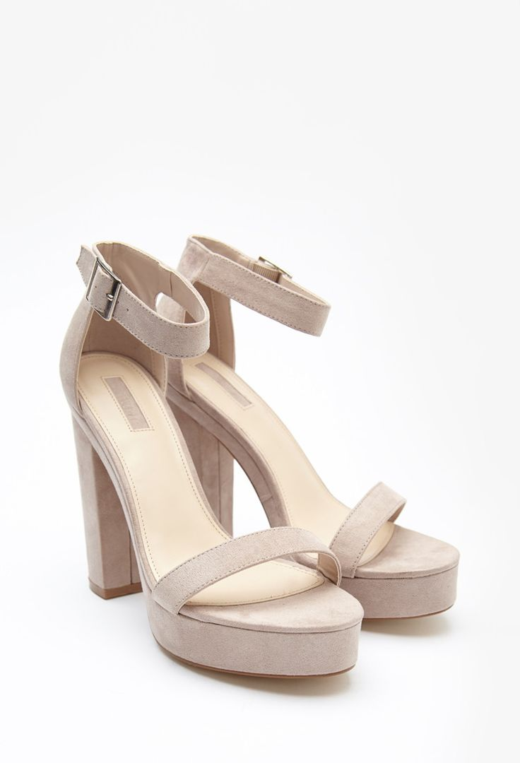 Platform Ankle Strap Sandals - Womens shoes and boots | shop online | Forever 21 - 2000155635 - Forever 21 EU English