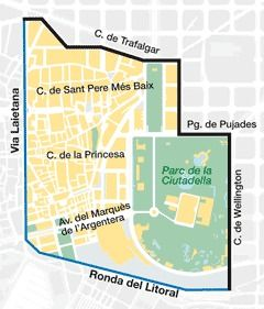 Map of Sant Pere, Santa Caterina i la Ribera