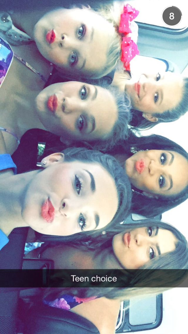 Dance Moms girls getting ready for Teen Choice 2015!!