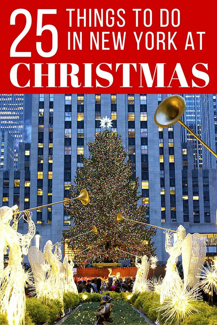 Festive things to do in New York City at Christmas Time. If you travel to New York in December, here is a holiday guide for everything Christmas in NYC. It's the most wonderful time of the year in this city, so plan a trip to enjoy all the season has to offer!