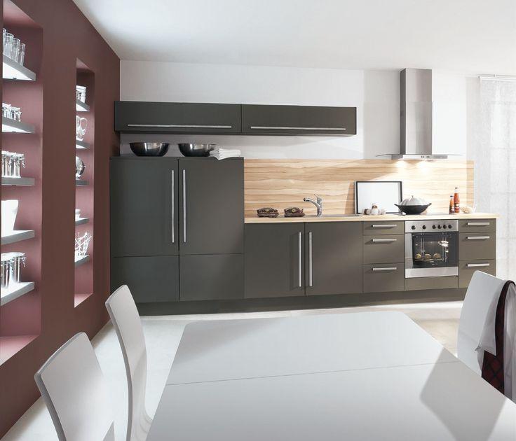 Pingl par richard vallet sur cuisine pinterest for Cuisine couleur anthracite