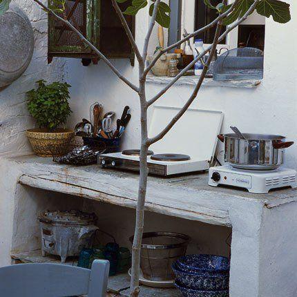 Une cuisine d'été nomade. Et si cet été on campait dans le jardin ?