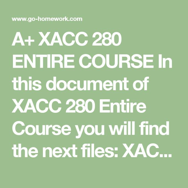 xacc 280 wk2 assignment journalizing posting and Request pdf on researchgate | xacc 280 courses tutorial / indigohelp | pxacc 280 week 1 checkpoint accounting assumptions, principles, and constraints xacc 280 week 1 checkpoint the accounting.