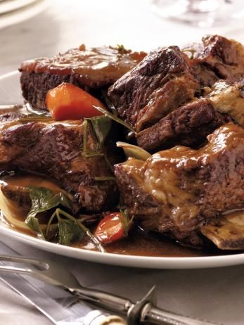 Sandra's short ribs become tender and juicy when slow cooked, resulting in a truly comforting dish.