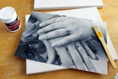 diy canvas photo transfer