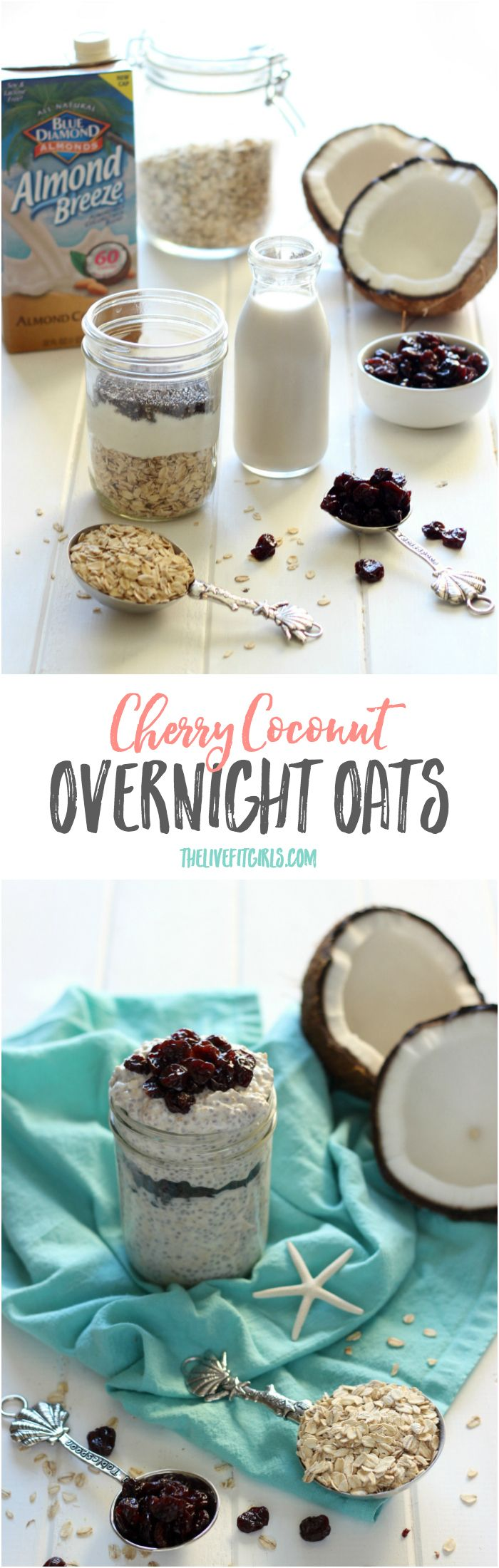 Don't stress over breakfast with these Cherry Coconut Overnight Oats!