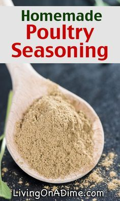 Homemade Poultry Seasoning Recipe - Homemade Seasonings Mixes And Blends