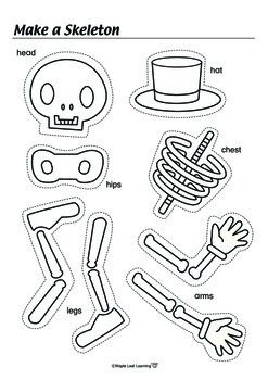 Free! Halloween Skeleton Activity-fun reinforcer and could be a dice activity too