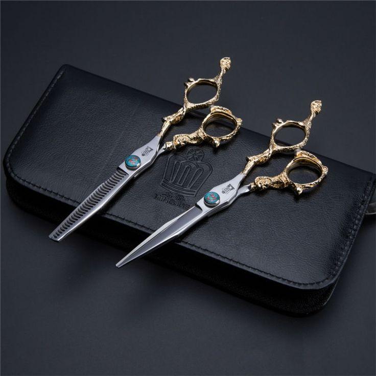 Professional Hair Scissors Set 6.0/5.5 inch Barber Hairdressing Cutting Thinning tijeras peluqueria
