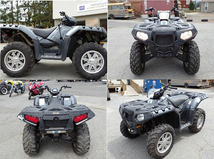 Polaris Sportsman XP 850 H.O. #Four_Wheeler_ATV is only 248 miles & its almost look like new can be taken to the mountains and sand dunes have without complaints! and will take everything you throw at it and puts the lovers of other brands of quads in their place & keeps there mouth shut when they want to run their mouth about this Polaris. Powered by a powerful 77 horsepower 850cc parallel twin 4 stroke and paired with a easy to use CVT automatic transmission, available at Marlborough, MA…