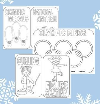 * FREE WINTER OLYMPICS COLORING PAGES AND MINI BOOK - TeachersPayTeachers.com