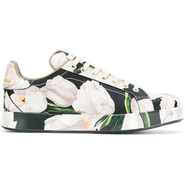 Dolce & Gabbana 'Portofino' sneakers ($615) ❤ liked on Polyvore featuring shoes, sneakers, multicolor, colorful sneakers, colorful shoes, leather sneakers, multi color shoes and lace up shoes