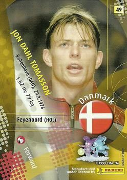 2002 Panini World Cup #49 Jon Dahl Tomasson  Back
