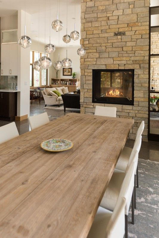 15 Double-Sided Fireplace Design Ideas For A Warm Home During Winter