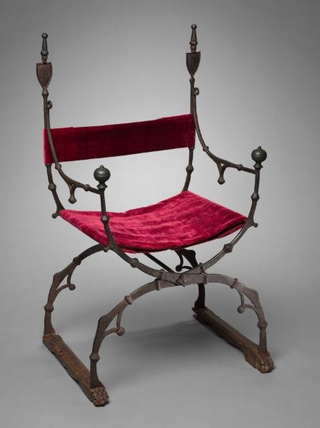 Curule (Folding) Chair, c. 1450-1500 Italy, Florence?, 15th century. At the Cleveland Museum of Art.