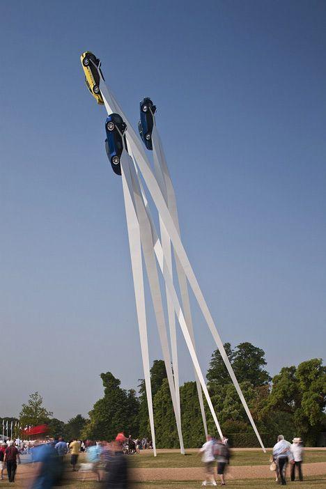 Porsche Sculpture by Gerry Judah #design #installations