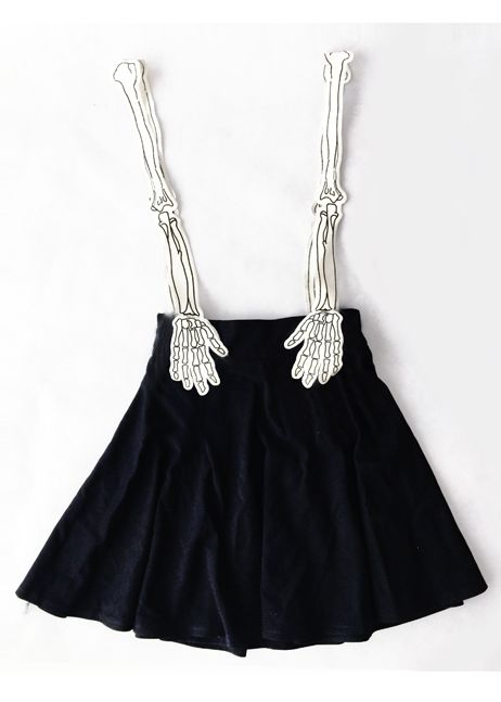 Skeleton Suspender Skirt