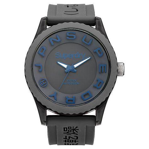 Buy Superdry Men's Tokyo Silicone Strap Watch Online at johnlewis.com