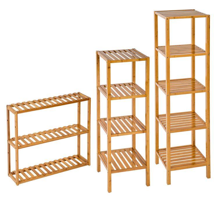 Standregal Holzregal Haushaltsregal Badregal Bücher Holz Sauna Regal Küchenregal in Möbel & Wohnen, Möbel, Regale & Aufbewahrung   eBay