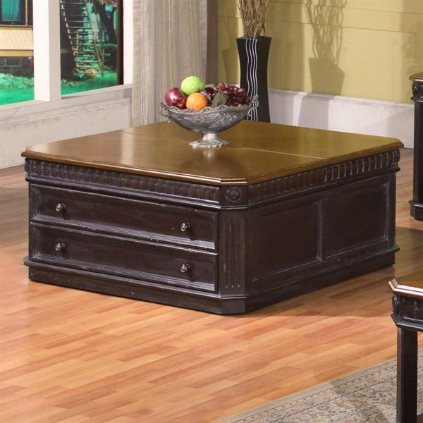 Hfsr Parker House Tab 27 04 Occasional Lift Top Cocktail Coffee Table Burnished Black Home