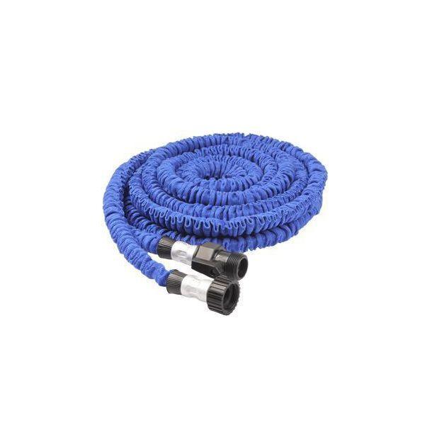 Tuyau d'arrosage 5.7 m extensible 15 mètres rétractable anti-nœud bleu - www.yonis-shop.com
