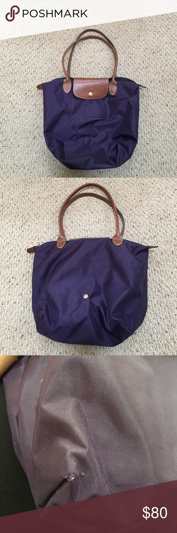 Long Champ Small Le Pliage Bag Purple small Le Pliage bag. GUC- minimal imperfections as pictured. Longchamp Bags