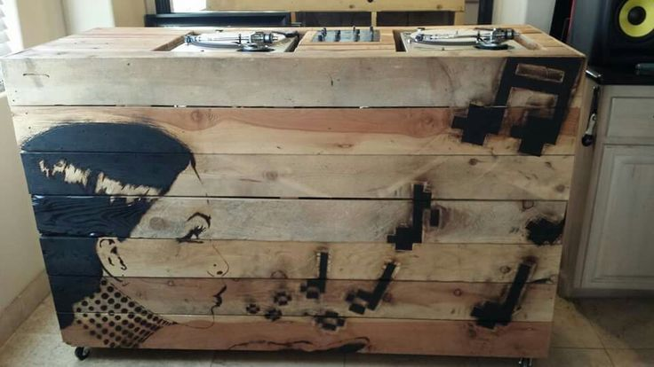 Wooden Dj Booth Artwork By Blake Byers And Woodwork By