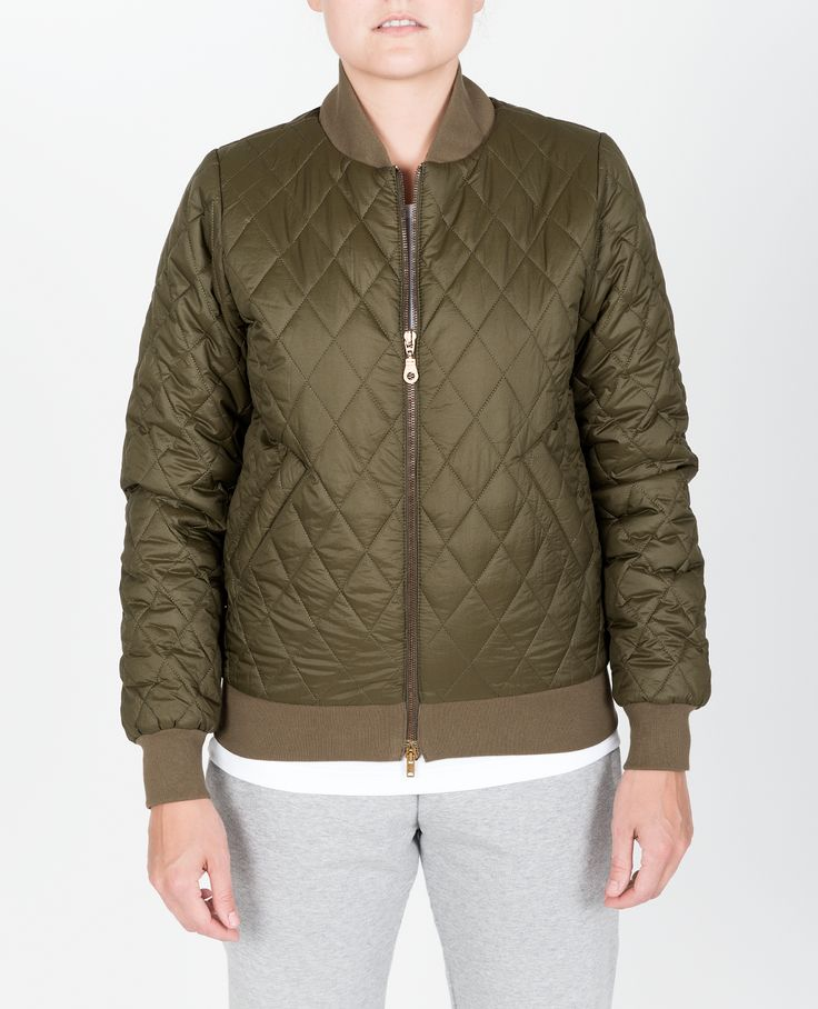 R-Collection Quilted bomber jacket