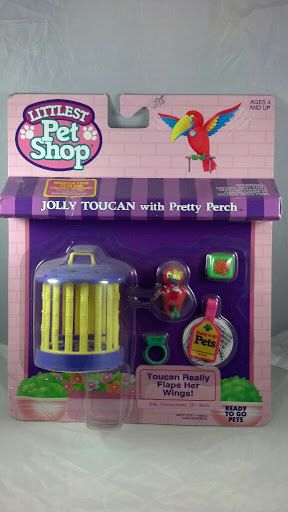 Kenner G1 Littlest Pet Shop MOC Red Jolly Toucan by PoniesAndPets, $75.00