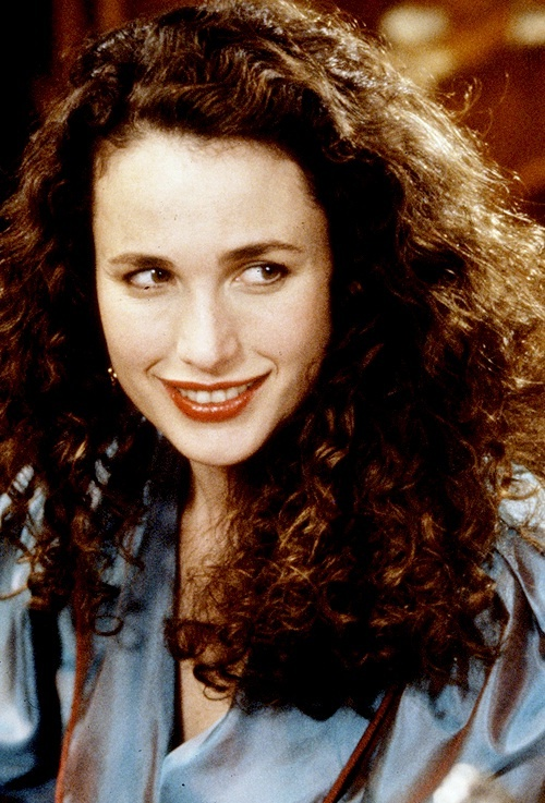 Andie MacDowell in Groundhog Day-- one of my favorite actresses, and one of the most beautiful women I've ever seen.