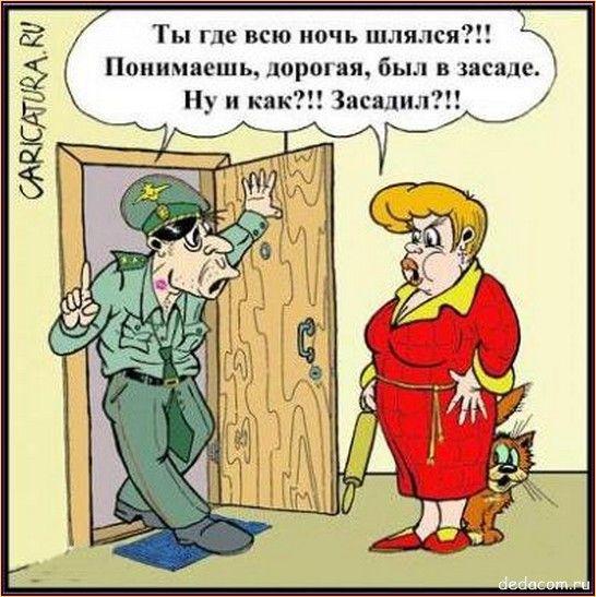 Муж и жена. Карикатуры   Винмакс.рФ