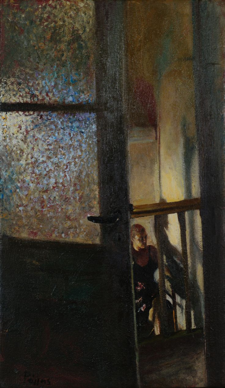 Study for a figure standing on the stairs - Giorgos Rorris