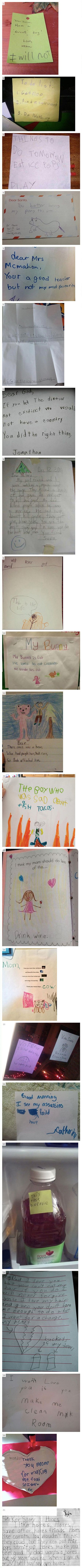 Kids are hilarious. Can't wait until mine is old enough to leave me some gems...