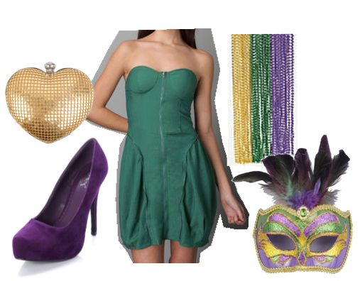 Cute for Mardi Gras - accessorize with the colors...