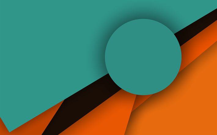 Download wallpapers material design, 4k, circle, lines, green background, creative