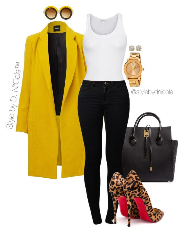"""""""Untitled #3197"""" by stylebydnicole ❤ liked on Polyvore featuring Michael Kors, American Vintage, Noisy May, Christian Louboutin, Movado, Hoorsenbuhs, women's clothing, women, female and woman"""