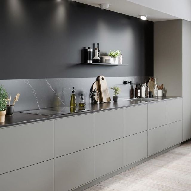 Simple stylish cabinets -we'd probably want lighter colour overall