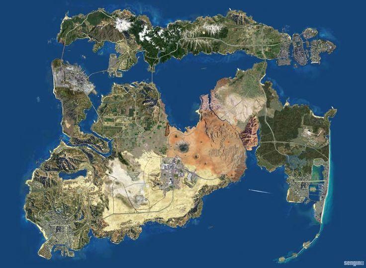 GTA Ultimate Map – Toutes les villes des jeux GTA regroupées sur une immense carte