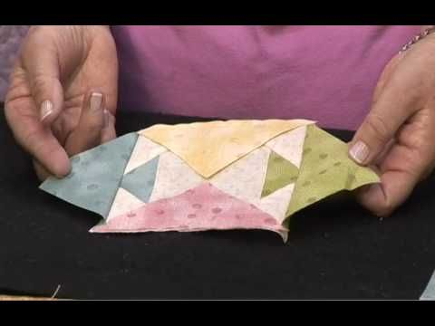 Karin Hellaby's Pineapple - Quickly Method amazing way to create a pineapple block.