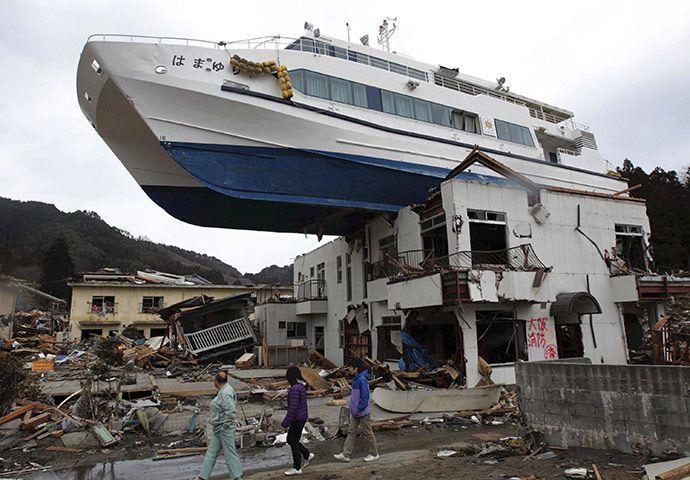 Japan tsunami and earthquake damage