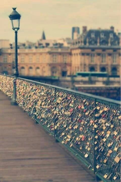 Love Bridge, Paris, France - Double click on the photo to get or sell a travel guide to #Paris
