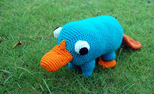 Oh my!! LOVE!!!!!!!!!! Free Perry the Platypus crochet pattern!!!!